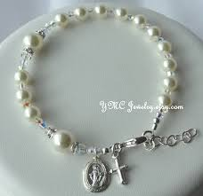 baby rosary bracelet sterling silver catholic baptism godparent and baby boy
