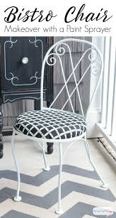 Iron Bistro Chairs How To Use A Paint Sprayer To Revive Outdoor Furniture Atta Girl