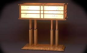 Japanese Floor Lamp Jeffrey Hunt Woodworking Lamps