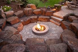 Fire Pit Backyard Eckel Home Spokane Landscaping Project Legacy Landscapes