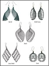 styles of earrings knitted wire earrings