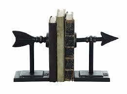 Book End Amazon Com Creative Co Op Metal Arrow Bookend Set Home U0026 Kitchen
