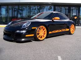 Porsche 911 Orange - 2007 black u0026 orange porsche gt3 rs porschebahn weblog