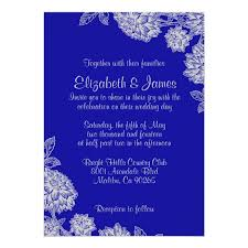 royal blue wedding invitations royal blue wedding invitations zazzle