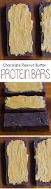 diy protein bars chocolate peanut butter protein bars no flour