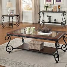 End Tables Sets For Living Room - glass coffee table sets you u0027ll love wayfair