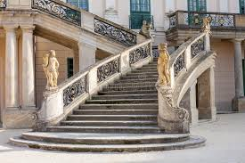 Stone Banister Esterhazy Castle Stairs And The Fountain Stock Image Image