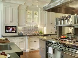 splash of color as kitchen cabinets ward log homes