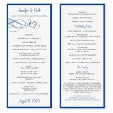 wedding program templates free wedding program template save btsa co