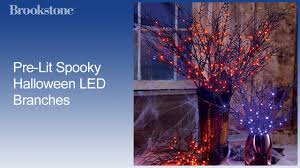 pre lit spooky halloween led branches youtube