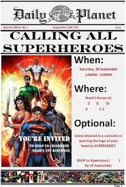 superhero birthday party invitations i made using word i