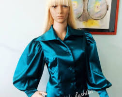 in satin blouses satin blouse etsy