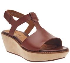 clarks leather t strap wedge sandals hazelle amore page 1
