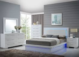 high gloss white laminate platform bedroom set
