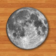 Vintage Desk Pad Round Mouse Pad Moon Dark Side Hipster Mousepad Natural Desk Deco