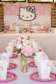 Hello Kitty Party Decorations Kara U0027s Party Ideas Pastel Pink Hello Kitty Party Ideas Decor