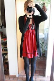 dari a h u0026m black cardigan zara red dress look me in the eye