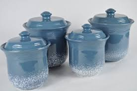 blue kitchen canister set light blue canister set ceramic kitchen jar set home goods
