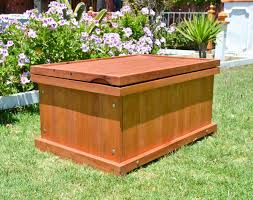 Wood Storage Benches Wooden Storage Bench Forever Redwood