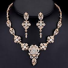 crystal bridal necklace sets images Minmin classic crystal bridal jewelry sets silver gold color jpg