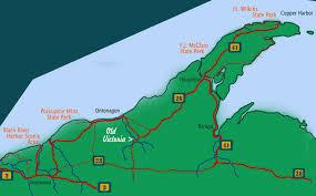 wisconsin scenic drives map michigan fall color road map peninsula michigan