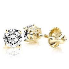 gold diamond stud earrings 1 2 carat 14k gold diamond stud earrings diamonds 5ct