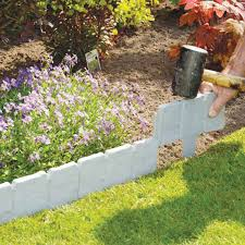 garden great garden edging stone decor ideas rectangle