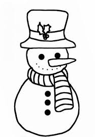 simple snowman coloring pages kids free winter coloring