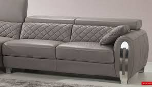 Modern Leather Sofa With Chaise by Sofas Center Greyther Sofa Slate Gray Bassett Home Furnishings