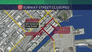 San Francisco Street Parking Map by Central Subway Construction To Impact 4th U0026 King Streets For 8