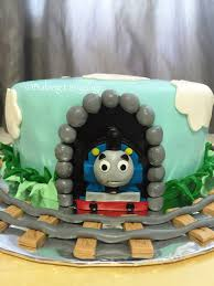thomas train birthday cake baking language