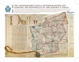 San Marino Italy Map by Vendita 550 Anniversario Della Determinazione Dei Confini Tra