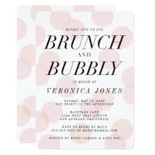 chagne brunch bridal shower invitations pink chagne invitations announcements zazzle