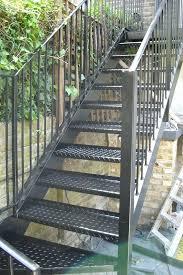 Outdoor Metal Handrails Interior Metal Stair Balusters Metal Stair Railing With Dark Wood