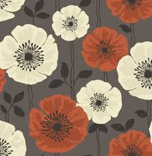 grey wallpaper with red flowers fine decor poppie red and black motif floral wallpaper fd14868