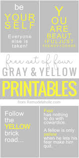Yellow And Gray Master Bedroom Ideas Remodelaholic Free Yellow And Grey Printables