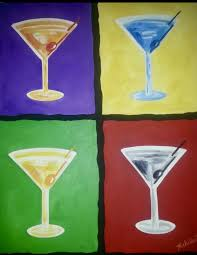 martini glass acrylic painting open paint or wine glasses 25 paint and unwined at market common