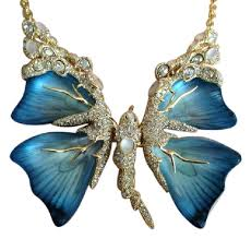 butterfly wing necklace images Alexis bittar blue jardin mystere butterfly necklace tradesy jpg