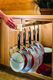 amazon com glideware pull out cabinet organizer for pots and pans