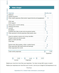 5 free monthly budget template top form templates free