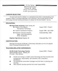 teacher resume objective first job resume sample sample resume