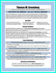 Qa Manager Resume Summary Perfect Construction Manager Resume To Get Approved