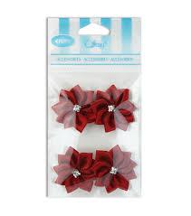 offray accessories offray rhinestone center flower ribbon accessory joann