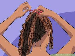 sister curls her brother hair how to care for sisterlocks with pictures wikihow