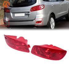 hyundai santa fe tail light assembly possbay car tail light turn signal housing rear bumper reflector red