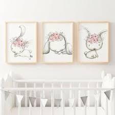 Personalised Baby Nursery Decor Baby Floral Woodland Nursery Or Bedroom Wall Decor