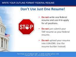 Upload Your Resume 10 Steps To Federal Job 2017