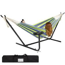 bestchoiceproducts sky3153 double hammock and steel stand w cup