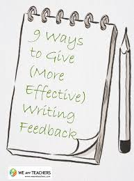 how to write a peer review paper 9 ways to give more effective writing feedback weareteachers grading