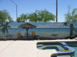 i am so doing this in my backyard arizona block wall murals